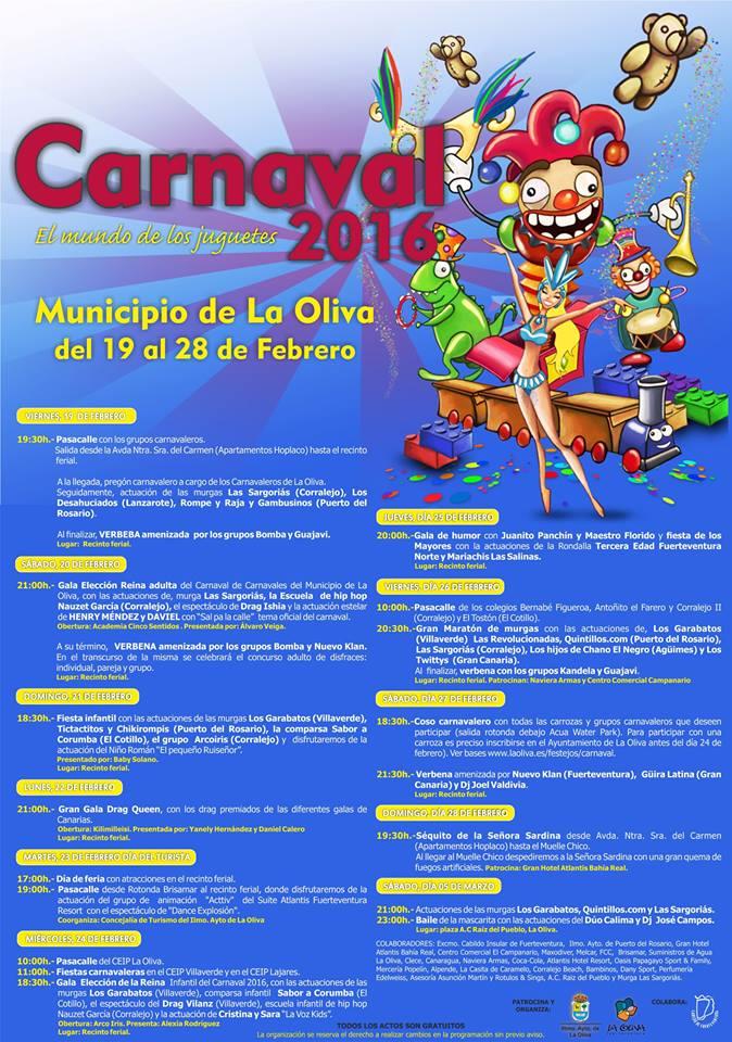 Program Of The Carnival Of La Oliva